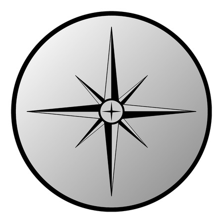 Compass button on white background. Vector illustration. Vector