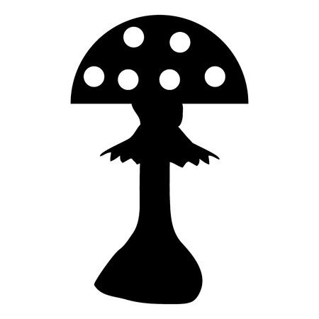 Amanita icon on white background. Vector illustration. Vector