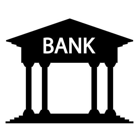 depository: Bank icon on white background. Vector illustration.