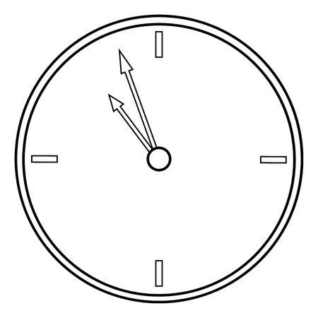 clockwise: Clock icon on white background. Vector illustration.