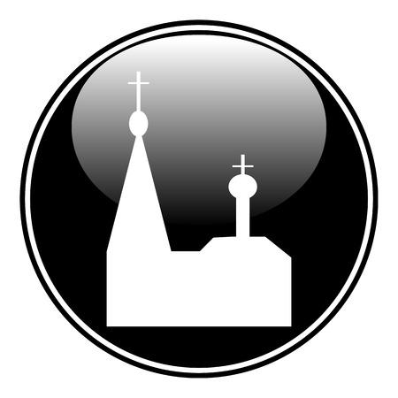 kopule: Pravoslavná církev tlačítko na bílém Ilustrace