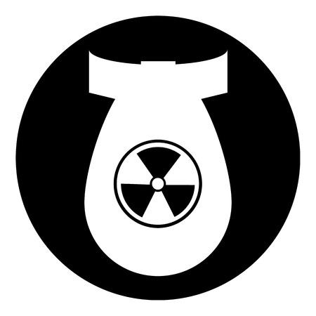 bombing: Bom knop op witte achtergrond illustratie. Stock Illustratie