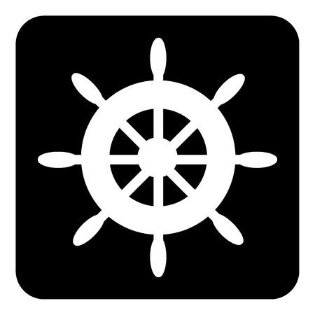 Steering wheel button on white background illustration. Vector