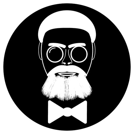 sir: Fashion silhouette hipster style, vector illustration.
