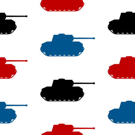 ww2: Panzer symbol seamless pattern on white background Illustration