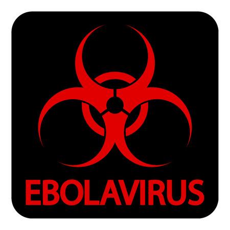 Ebola virus icon on white background
