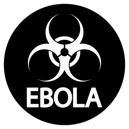 virus icon: Ebola virus icon on white background