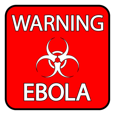ebola: Ebola danger sign on white background