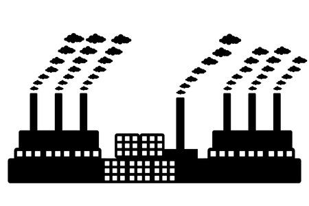 dangerous construction: Factory icon on white background. Vector illustration. Illustration