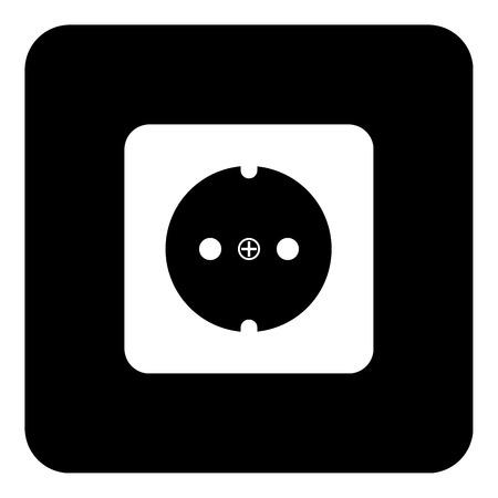 unplugged: Socket icon on white background. Vector illustration.