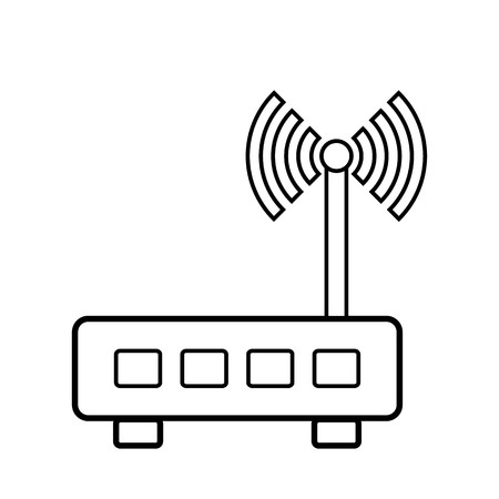 Router icon on white background. Vector illustration. Illustration