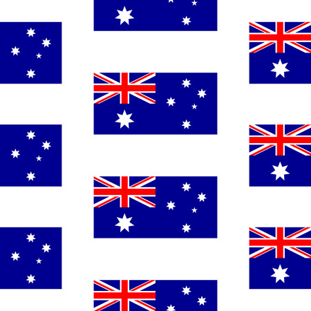 Australia flag seamless pattern on white background. Vector illustration. Vector