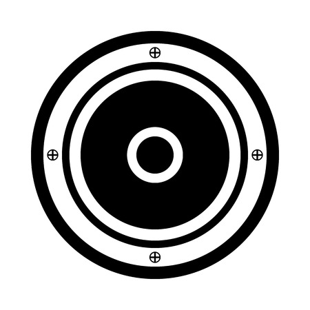 speaker icon: Audio speaker icon on white background.