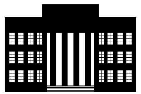 Building icon on white background. Neoclassicism.