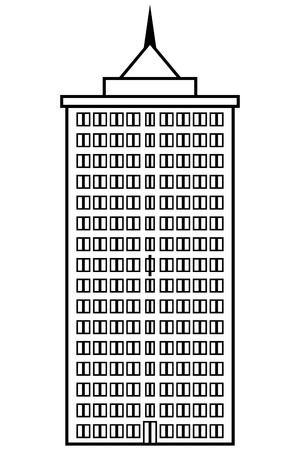 condominium: Condominium icon on white background. Vector illustration. Illustration