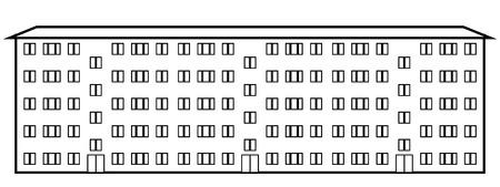 Condominium icon on white background. Vector illustration. 일러스트