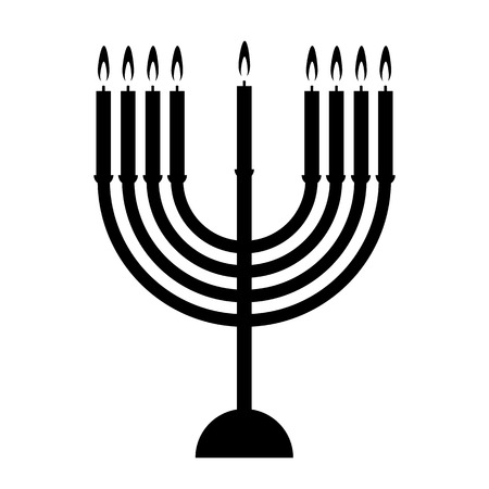 Chanukah icon on white background. Vector illustration. Vector