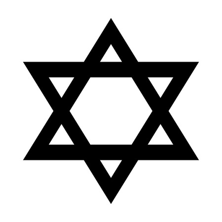 magen: Magen David icon on white background. Vector illustration.