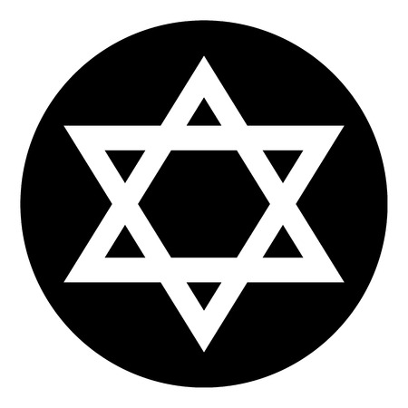 magen david: Magen David symbol button on white background. Vector illustration. Illustration