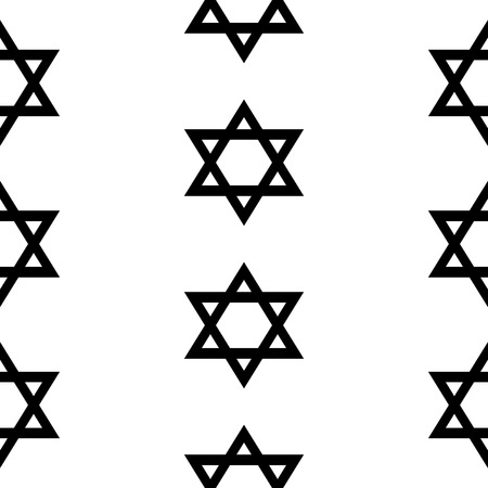 magen: Magen David seamless pattern on white background. Vector illustration. Illustration