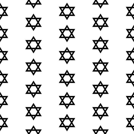 magen david: Magen David seamless pattern on white background. Vector illustration. Illustration