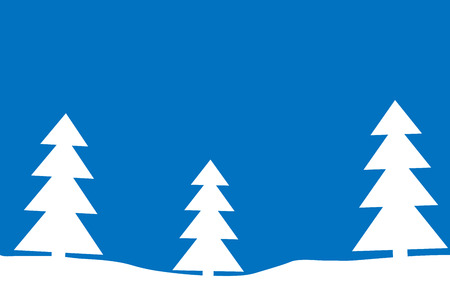 seasonable: Winter forest by day. Vector illustration. Illustration