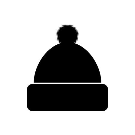 Winter hat icon on white background. Vector illustration. Ilustração