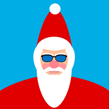 oldman: Santa Claus face. Vector illustration.