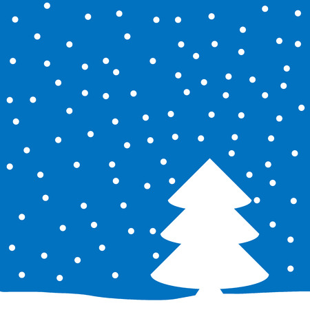 seasonable: Winter landscape with falling snow. Vector illustration. Illustration