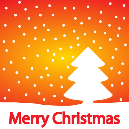 happy seasonable: Christmas background with winter landscape. Vector illustration. Illustration