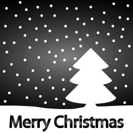 Christmas background with winter landscape. Vector illustration. Illustration