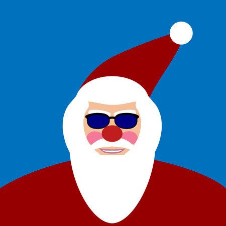 moroz: Santa Claus face. Vector illustration.