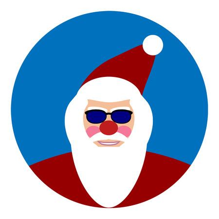oldman: Santa Claus face icon. Vector illustration. Illustration