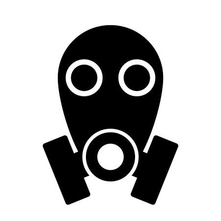 army gas mask: Icono de la m�scara de gas sobre blanco
