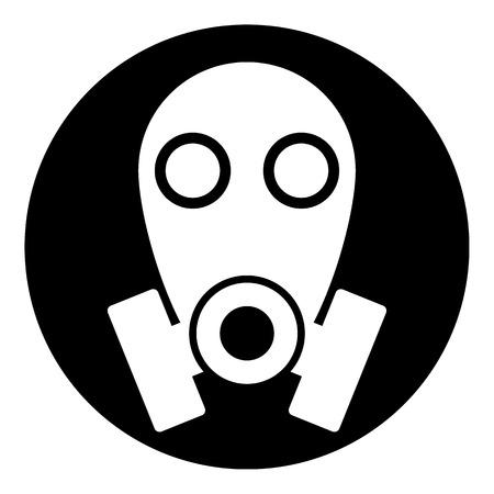 respire: Gas mask symbol button on white