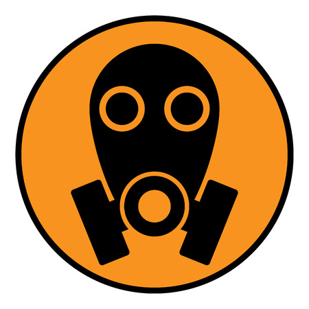 Gas mask sign on white background. Vector illustration. Vector