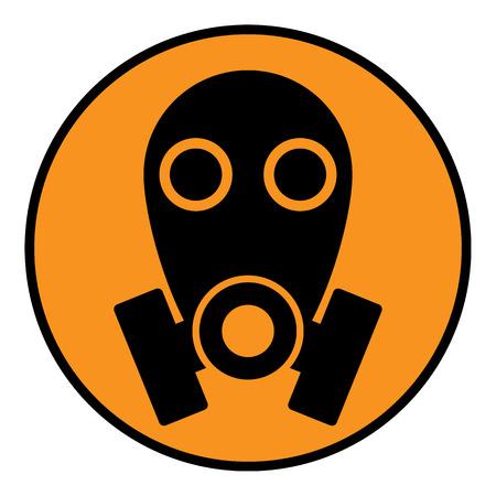 army gas mask: Signo m�scara de gas sobre fondo blanco. Ilustraci�n del vector.