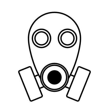agressive: Gas mask icon on white background. Vector illustration.