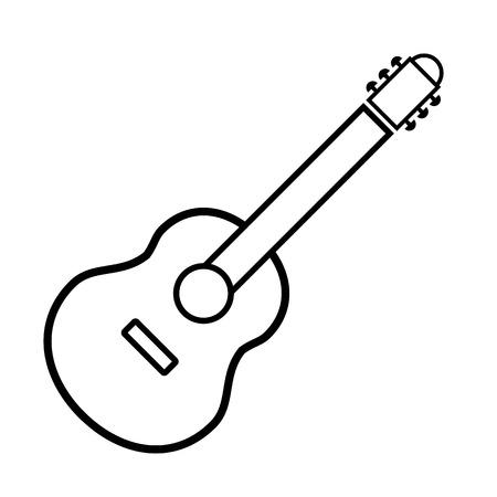 Guitar sign icon on white background. Vector illustration. Illustration