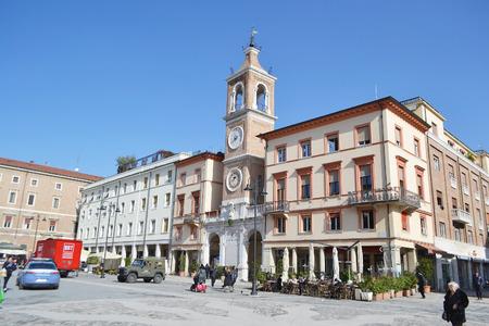 martiri: RIMINI, ITALY - FEBRUARY 21, 2014: The Piazza Tre Martiri in the historic part of Rimini.