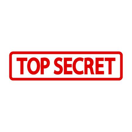 espionaje: Sello secret�simo en el fondo blanco. Ilustraci�n del vector.