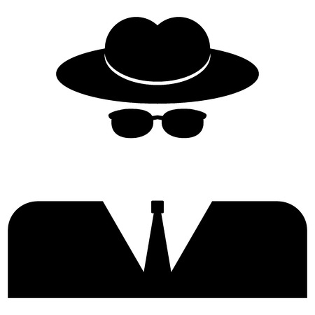 Spy icon on white background. Vector illustration.