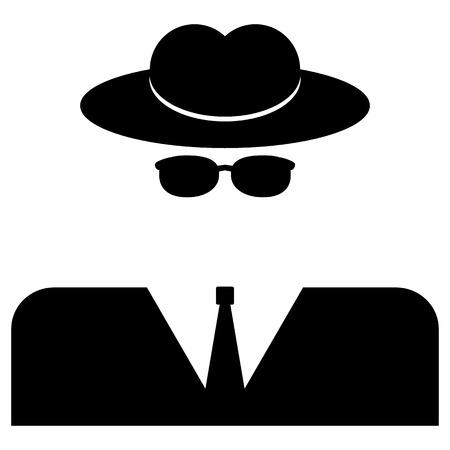 Spy-pictogram op een witte achtergrond. Vector illustratie.