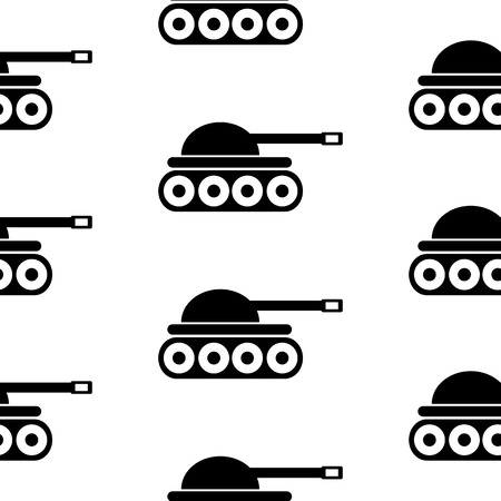 Panzer: Panzer symbol seamless pattern on white background. Vector illustration. Illustration