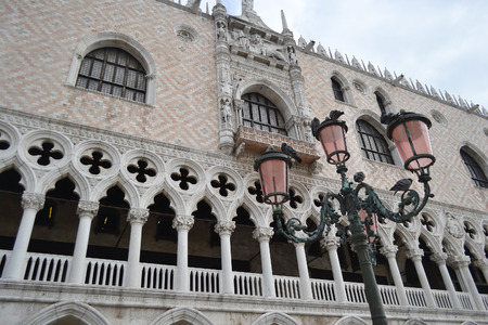 ducale: Architectural detail of the Doges Palace (Palazzo Ducale) in Venice, Italy.