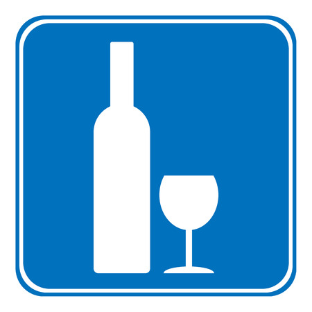 glasse: The sign is allowed to drink on white background. Vector illustration.
