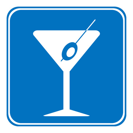 vermouth: Martini sign is allowed to drink on white background.  Illustration