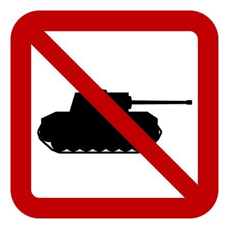 no war: No war sign on white background. Vector illustration. Illustration