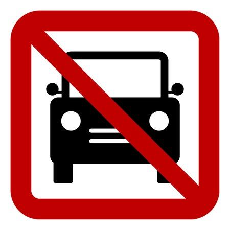 Ban Cars Sign Flat Icon Stop No Symbol Illustration Not Badge