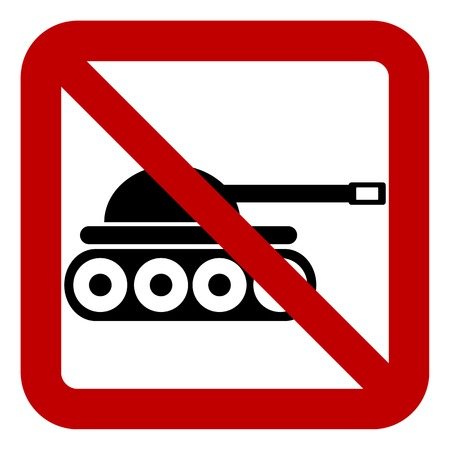 no war: No war sign on white background. Vector illustration. Illustration